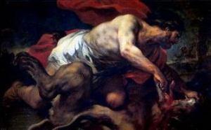 Luca Giordano 「サムソンとライオン」 (1695~1696)
