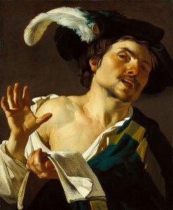 Dirck van Baburen 「歌う若い男」 (1622)