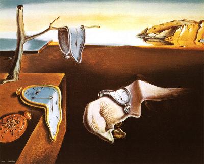 Salvador Dali 「記憶の固執(柔らかい時計)」 (1931)