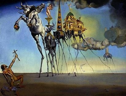サルバドール・ダリ 《聖アントニウスの誘惑》 (1946)