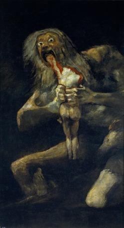 Francisco José de Goya y Lucientes 「我が子を食らうサトゥルヌス」 (1819-1823年)