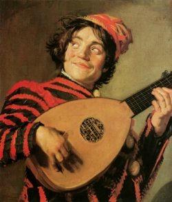 Frans Hals 「リュートを持つ道化師」 (1624年頃)