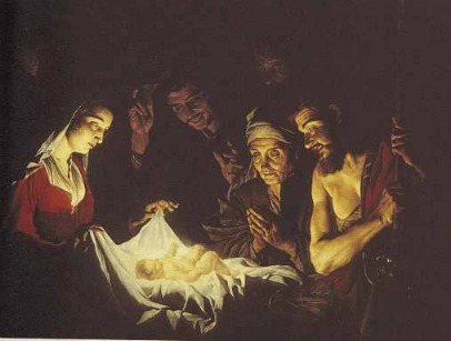 Matthias Stomer 「羊飼いの礼拝」 (1637頃)