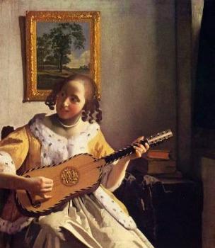 Johannes Vermeer 「ギターを弾く女」 (1670年頃)