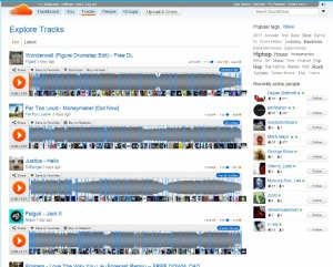 SoundCloud メイン画面