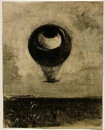 オディロン・ルドン 「眼=気球」 (1878)