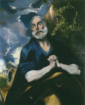 エル・グレコ 「悔悛する聖ペテロ」 (1585~1590)