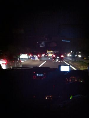 帰りは大渋滞