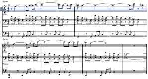 旋律の組み合わせ