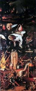 ヒエロニムス・ボス「快楽の園 ※地獄部分の抜粋」(1510-15年頃)
