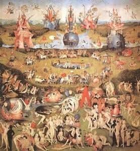 ヒエロニムス・ボス「快楽の園 ※中央部の抜粋」(1510-15年頃)